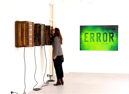 error print, peep boxes vs visitor, all readymade, 212 Frank Taal Galerie, Rotterdam