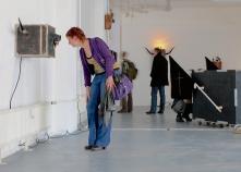 Visitor @ Kunstenlab, wicked peepshow, Deventer, 2012