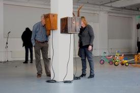 ZWITZALBOX, visitors @ Kunstenlab, wicked peepshow, Deventer, 2012
